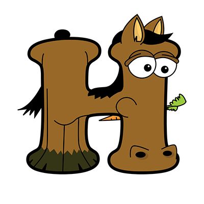 Cartoon Horse | Alphabetimals.com