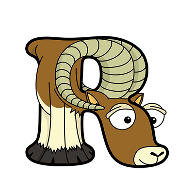 Cartoon Ram | Alphabetimals.com