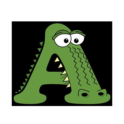 Cartoon Alligator | Alphabetimals.com