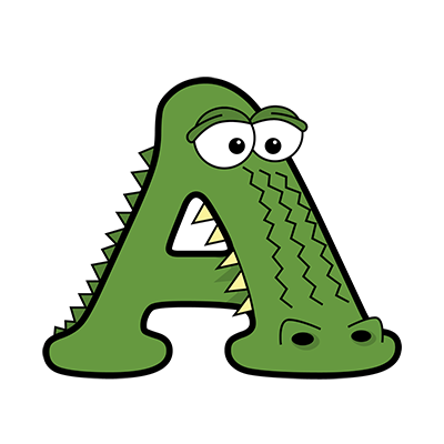 Cartoon Alligator | Alphabetimals.com