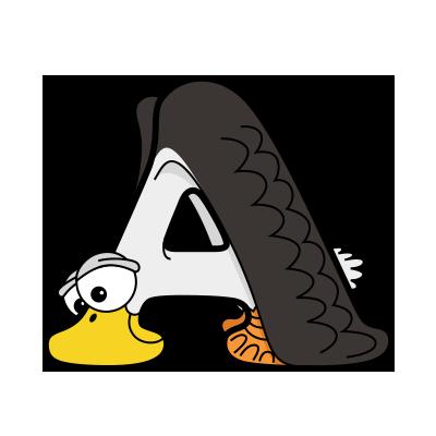 Cartoon Albatross | Alphabetimals.com
