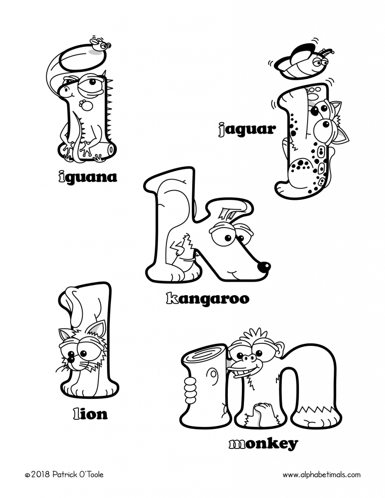 Printable Coloring Pages Lowercase Letters Animals Alphabetimals