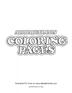 Printable Coloring Pages - Uppercase Letters & Animals