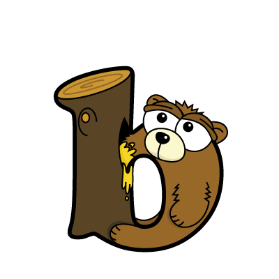 Cartoon bear | Alphabetimals.com