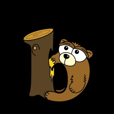 Cartoon Baby Bear | Alphabetimals.com