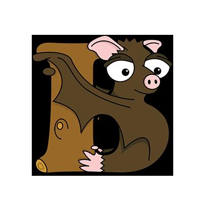 Cartoon Bat | Alphabetimals.com