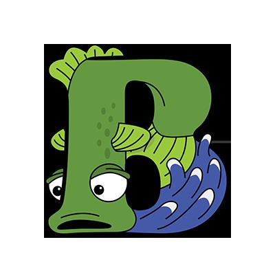 Cartoon Bass | Alphabetimals.com