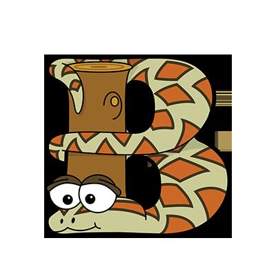 Cartoon Boa | Alphabetimals.com