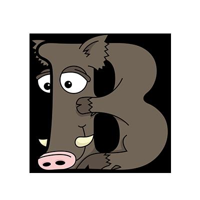 Cartoon Boar | Alphabetimals.com