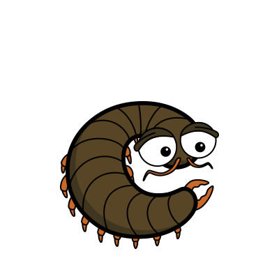 Cartoon centipede | Alphabetimals.com