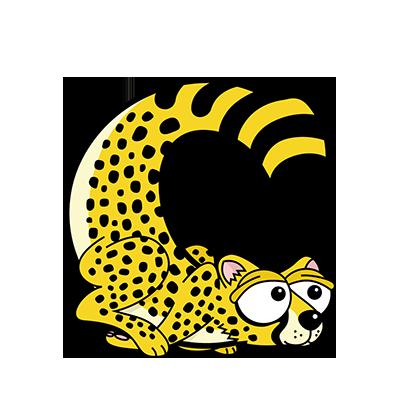 Cartoon Cheetah | Alphabetimals.com