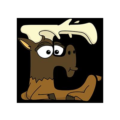 Cartoon Elk | Alphabetimals.com