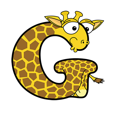 Cartoon Giraffe | Alphabetimals.com