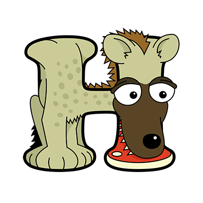 Cartoon Hyena | Alphabetimals.com