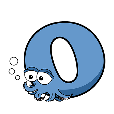 Cartoon Octopus | Alphabetimals.com