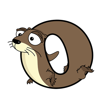 Cartoon Otter | Alphabetimals.com