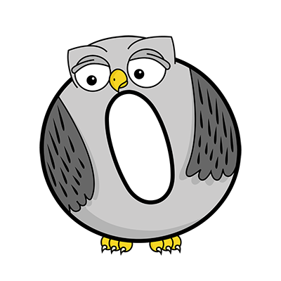 Cartoon Owl | Alphabetimals.com