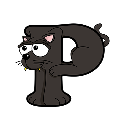 Cartoon Panther | Alphabetimals.com