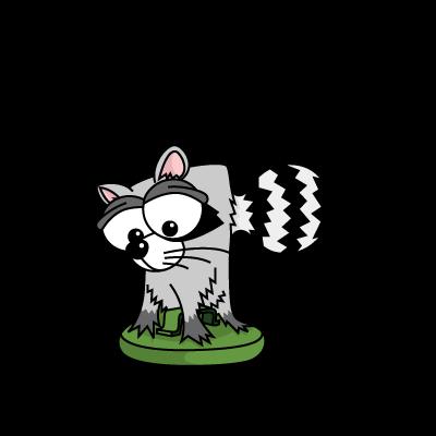 Cartoon Baby Raccoon