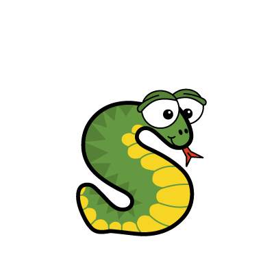 Cartoon snake | Alphabetimals.com