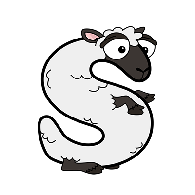 Cartoon Sheep | Alphabetimals.com