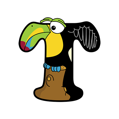 Cartoon Toucan | Alphabetimals.com