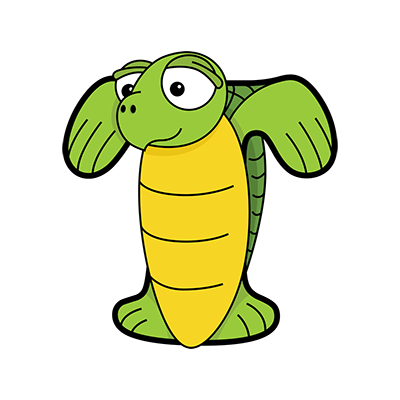 Cartoon Turtle | Alphabetimals.com