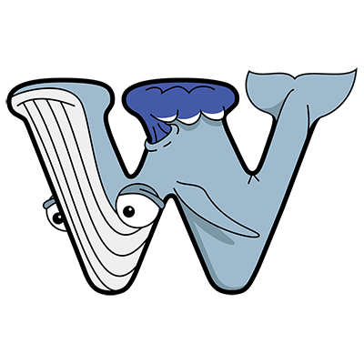 Cartoon Whale | Alphabetimals.com
