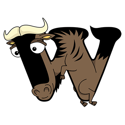 Cartoon Wildebeest | Alphabetimals.com