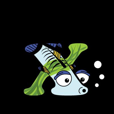 Cartoon Baby X-ray Fish