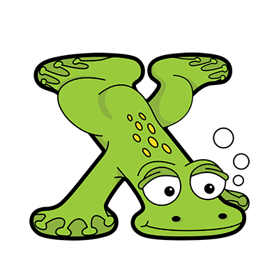 Cartoon Xenopus | Alphabetimals.com