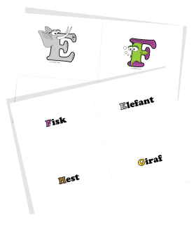 Alphabetimals Free Printable Alphabet Flashcards - Uppercase