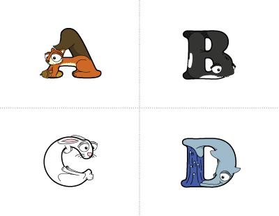Tarjetas del alfabeto - Alphabetimals