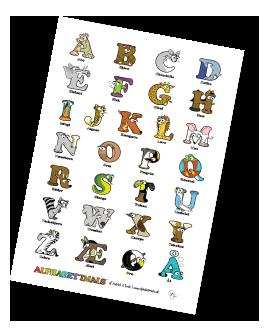 Alphabetimals Free Printable Alphabet Poster - Uppercase