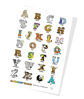 Alphabetimals Free Printable Alphabet Poster - Uppercase