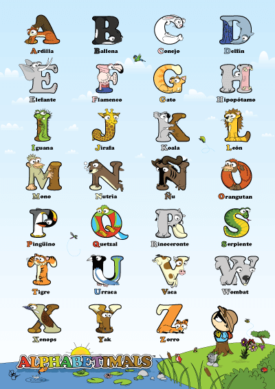 Cartel del alfabeto para imprimir