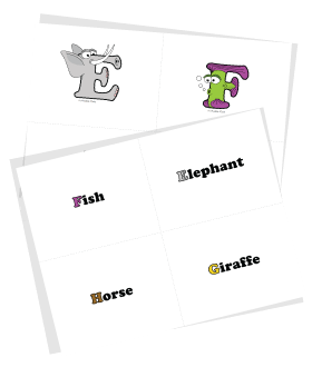 Free Uppercase Alphabet Flash Cards