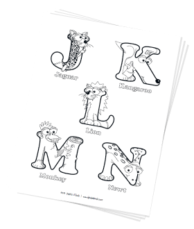 Free Coloring Pages: Uppercase Letters