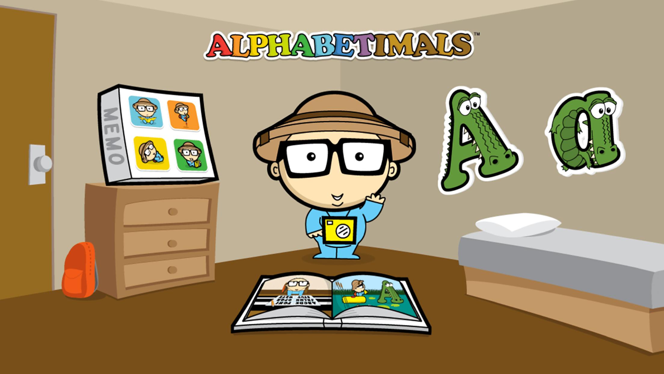 Alphabetimals App Home Screen