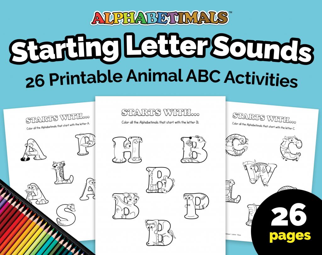 Alphabetimals Starting Letter Sounds Worksheets